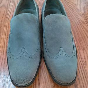 Rogue grey suede venetian loafers 9M 42EU